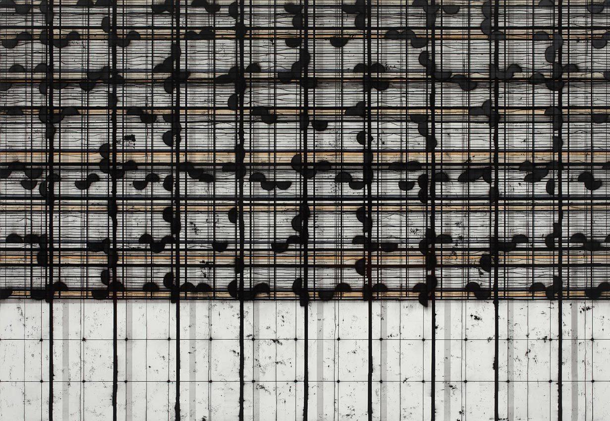 2009 ECLIPTICA acrylic and oil on canvas 203 x 290 cm