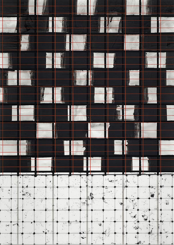 2010 SPECTRAL acrylic and shellac on canvas 214 x 153 cm
