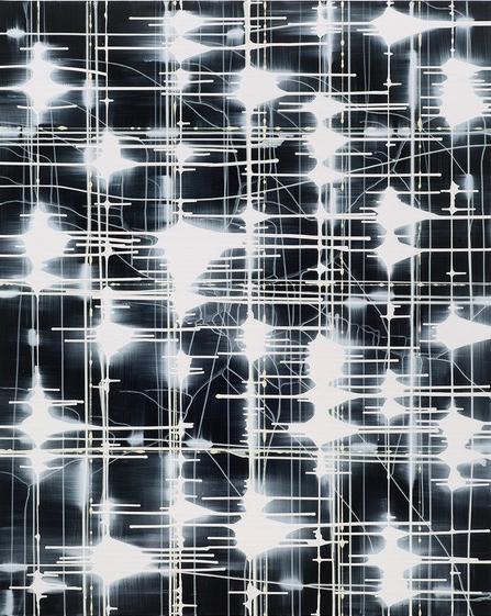 2018 LIGHT BETWEEN FIELDS oil on canvas 153 x122 cm