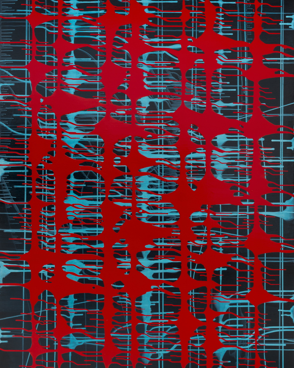 2016 LINEAR RELATION / acrylic and oil on canvas / 153 x 122 CM