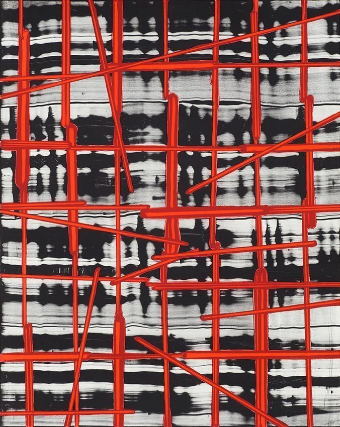 2014 GRID 1, original lithograph printed on 250g Velin d'Arches paper 84.5 x 67cm, Edition of 45 numbered and signed by the artist